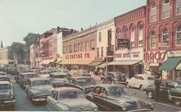 Glen Street Looking North, Glen Falls, New York Vintage Cars - Adirondack