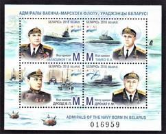 Belarus 2018 , Ships & Submarines , 2018 Admirals Of The Navy Born In Belarus - Belarus