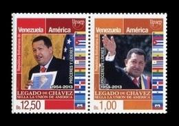 Venezuela 2014 Mih. 4334/35 America-UPAEP. Heroes And Leaders. President Hugo Chavez MNH ** - Venezuela