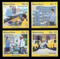 Mauritius 2005 Mih. 1002/05 Postal Service. Automobiles. Motorcycle MNH ** - Maurice (1968-...)