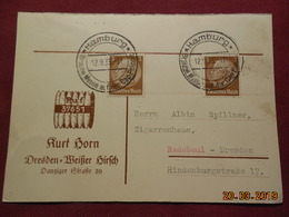 Carte De 1933 à Destination De Radebeul - Briefe U. Dokumente