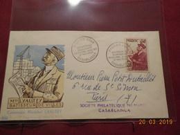 Lettres De 1954 à Destination De Paris(centenaire De La Naissance De Lyautey) 4 Enveloppes - Marokko (1891-1956)