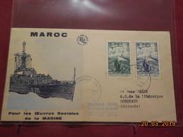 Lettres (FDC) De 1954 ( Pour Les Oeuvres Sociales De La Marine) - Marokko (1891-1956)