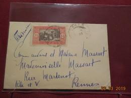 Petite Lettre De 1933 à Destination De Rennes - Senegal (1887-1944)