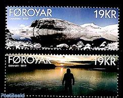 Faroe Islands 2019 Lakes 2v (Leynavatn, Eidisvatn), (Mint NH) - Färöer Inseln