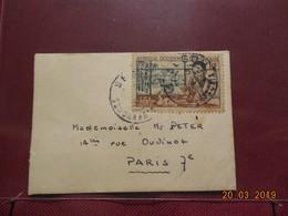 Petite Lettre De 1954 à Destination De Paris - A.O.F. (1934-1959)