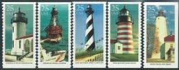 US  1990   Sc#2470-4   Lighthouses Set Of 5 MNH - Vereinigte Staaten