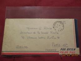 Lettre De 1950 Avec Cachet (TOE Poste Aux Armées) SP 75649 BPM 403 TFIN - Poststempel (Briefe)