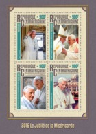 Central Africa 2016  Jubilee Of Mercy, Pope Francis,Pope Benedict Emeritus - Central African Republic