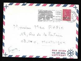 La Réunion Lettre Du 27  10 1973   De Saint Denis  Vers Montluçon - Reunion Island (1852-1975)