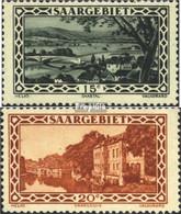 Saarland 109-110 Mit Falz 1926 Landschaftsbilder (V) - 1920-35 Saargebiet – Abstimmungsgebiet