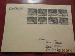 Lettre De 1957 à Destination De......(bloc De 8 Timbres) - BRD