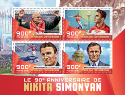 Central Africa 2016  Nikita Simonyan, Former Soviet Football Striker, Soccer - Central African Republic