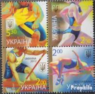 Ukraine 1259-1262 Viererblock (kompl.Ausg.) Postfrisch 2012 Sport - Ukraine