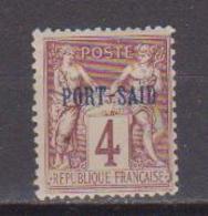 PORT-SAID         N°  YVERT  :   4  (point Rouille)    NEUF AVEC  CHARNIERES      ( Ch  2/04  ) - Ungebraucht
