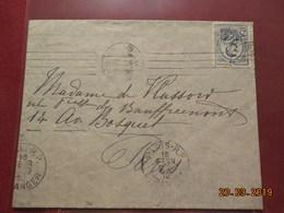 Lettre De 1912 à Destination De Paris - 1881-1918: Carol I.