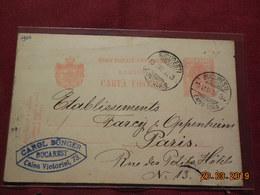 Entier Postal De 1906 à Destination De Paris - Ganzsachen