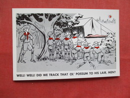 Humor  Boy Scouts Nude Female      Ref 3229 - Humour
