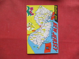 Map Greetings     New Jersey  First Day Of Issue Stamp & Cancel Ref 3229 - Etats-Unis