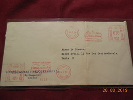 Lettre De 1956 à Destination De Paris Avec EMA - Marcofilie - EMA (Printer)