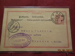 Entier Postal De 1900 à Destination D Yverdon - Wurttemberg