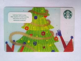 Starbucks  UK  Christmas Tree - Cartes Cadeaux