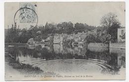 (RECTO / VERSO) SAINT LO EN 1906 - N° 50 - LE QUARTIER DE VALOIRE - MAISONS AU BORD DE LA RIVIERE - BEAU CACHET - CPA - Saint Lo