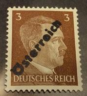 Austria 1945,Hitler Rare Unissued 3pf Overprint, Mi # A4,VF Mint Hinged*OG (RN-7) - 1918-1945 1st Republic