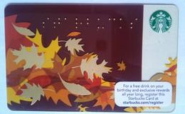 Starbucks USA Autumn - Cartes Cadeaux