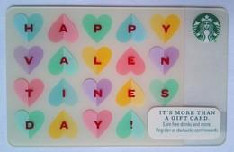 Starbucks USA  Happy Valentines Day - Cartes Cadeaux