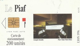CARTE DE STATIONNEMENT   LE PIAF...200 UNITES   LYON - Scontrini Di Parcheggio