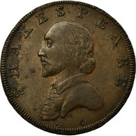 Monnaie, Grande-Bretagne, Warwickshire, Shakespeare, Halfpenny Token, 1790 - Monnaies Régionales