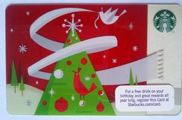 Starbucks USA Christmas Tree - Cartes Cadeaux