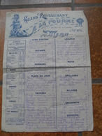 GRANDE CARTE MENU 1910 GRAND RESTAURANT A LA FOURMI LYON RHONE VOIR DETAILS - Menus