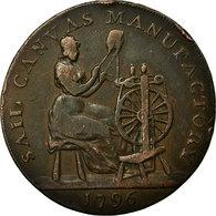Monnaie, Grande-Bretagne, Devon, Halfpenny Token, 1796, Plymouth, TTB, Cuivre - Monnaies Régionales