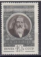 USSR 1957 - D. Mendeleew, Chemiker, Mi-Nr. 1915, MNH** - Unused Stamps