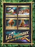 Guinea 2016 Fauna  Endangered Animals Fox  ,bird - Guinea (1958-...)