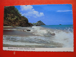 """Breakers On St.Lucia""""s Northern Coast - Sainte-Lucie"""