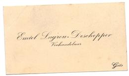 Visitekaartje - Carte Visite - Veehandelaar Emiel Lagrou - Deschepper - Gits - Cartes De Visite