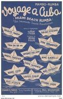 """Partition . """" Voyage A Cuba """"  : Manbo - Rumba  . Paroles De Hubert Hitier . - Partitions Musicales Anciennes"""