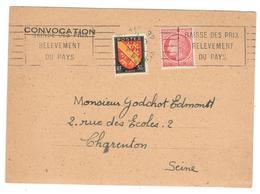 15435 - Avec Flamme Sur Convocation - Postmark Collection (Covers)