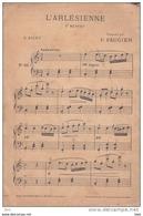 """Partition . """" L ' Arlésienne """" . 2eme Menuet  . G . Bizet  . - Partitions Musicales Anciennes"""