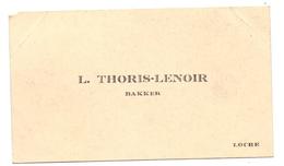 Visitekaartje - Carte Visite - Bakker L. Thoris - Lenoir - Locre Loker - Visiting Cards