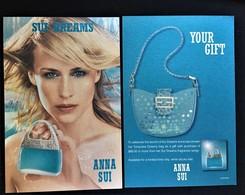 ANNA SUI DREAMS PERFUME CARTE CARD AUSTRALIA - Modern (from 1961)