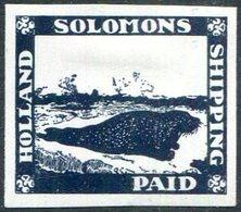 ARCTIC Holland Solomons Shipping Co. Local Post Seal Robbe Seehund Phoque Ship Mail Schiffspost Arktis Arctique - Faune Arctique
