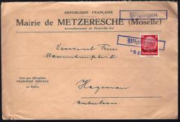 LETTRE VENANT DE WIGINGEN - VIGY - LOTHRINGEN - 1940 - - Occupation 1938-45