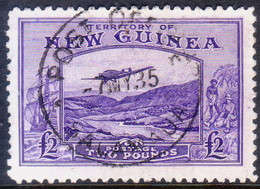 New Guinea (Territory Of) 1935 SG #204 £2 Used Bulolo Goldfields CV £140 - Papouasie-Nouvelle-Guinée