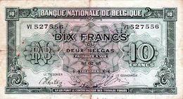 2 Billets Belge - 10 Francs Le 01-02-1943 Et 20 Francs Le 03-04-1956 - - België