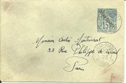 Sur Petit Entier -Cachet De DIEGO-SUAREZ - 1893 - - Covers & Documents