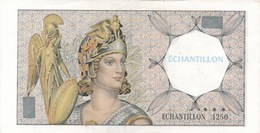 Billet  échantillon  1250 ( Athéna  Banque De De France )( Recto Verso ) - Specimen